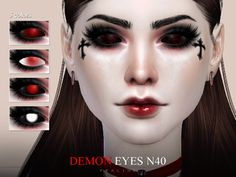 Sims 4 Anime - Demon Eyes N40