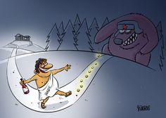 Cartoon / Greece and Russia