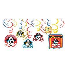 Pirate's Treasure Swirl Decorations 12ct
