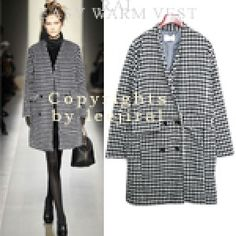 Check Four Buttons Coat