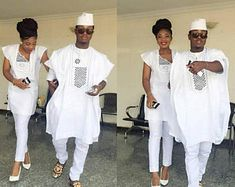 Top 17 Yoruba Demon Wears For First Class African Couples - WearitAfrica African Shirts, African Wear, African Women, African Dress, African Style, African Attire For Men, Matching Couple Outfits, Matching Couples, African Print Fashion