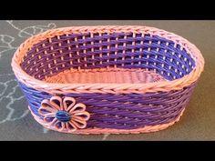 #1095 Мастер-класс c Ниной Корзинка из газет Woven basket from newspaper ENGLISH SUBTITLES - YouTube