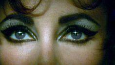 The piercing violet eyes of Elizabeth Taylor . . .