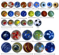 Antique Marbles | Machine Made Glass Marbles - 1980 to Current