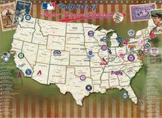 Major League Baseball Stadiums in the USA.