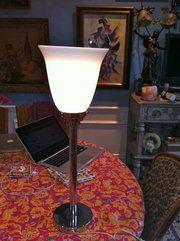 Antiques Atlas - Tall Art Deco Desk/Table Lamp Material: Chrome Condition: Good Origin: French Circa 1930