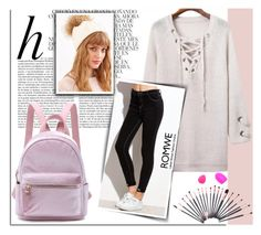 """""""ROMWE 3"""" by melissa995 ❤ liked on Polyvore featuring Whiteley"""