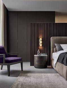 Bedside table / round / contemporary / marble ONDA Poliform
