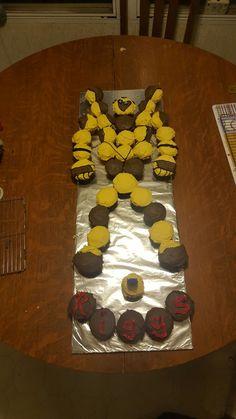 Transformers Cupcakes, Transformers Birthday Parties, Transformer Cake, Transformer Birthday, 3rd Birthday Cakes, Birthday Ideas, Happy Birthday, Kids Party Themes, Grand Kids