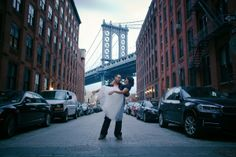 Brooklyn Bridge Park Engagement Shoot by Photonika
