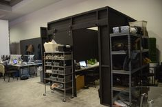 Back of house behind the scenes production room ces