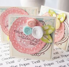 Andreas Creative Paper Trail- simple felt strip rolled flowers