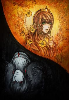 Persephone / Kore. Hades and Persephone -copic sketch- by ~Fluorescence911 on deviantART