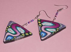 Ohrhänger - Ohrhänger Dreieck bunt - ein Designerstück von iCo-Design bei DaWanda