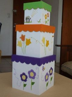 cajitas madera decoradas - Buscar con Google Painted Flower Pots, Decoupage Box, Tea Box, Pretty Box, Painted Boxes, Craft Box, Corner Bookmarks, Craft Tutorials, Wood Art