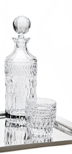 "Godinger Symphony Crystal Whiskey Decanter by Godinger. $39.99. Capacity 800 mL. Part of Godinger's Symphony line - coordinating styles are available. Measures approximiately 12""H x 3.5"" diameter. Crafted of fine quality crystal. SYMPHONY COLLECTION CRYSTAL WHISKEY DECANTER"