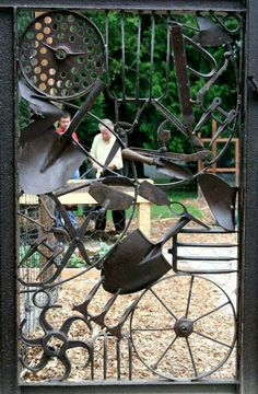 Garden implement gate