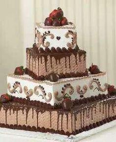 Pastel de chocolate para bodas