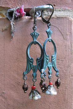 kathleen oorbellen met verdi gris ornament en door mooisvanme - 10 euro