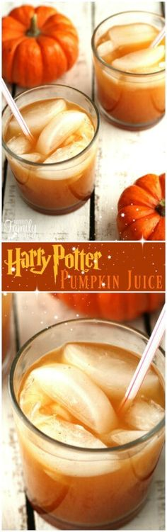 This Pumpkin Juice is the perfect drink for fall.  I tried it for the first time last week when we visited The Wizarding World of Harry Potter at Universal Studios in Orlando.  I knew at first drink that this was something I had to recreate at home! via /favfamilyrecipz/