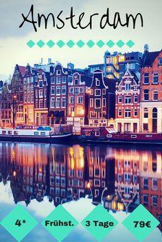 Für einen Kurzurlaub in Amsterdam findet man aktuell wieder ein gutes und vor allem günstiges 4* Hotel mit Frühstück. 2 Übernachtungen mit Frühstück gibt's schon für 89€ p.P. --->http://www.reiseuhu.de/?p=7774 #Amsterdam #Kurzurlaub
