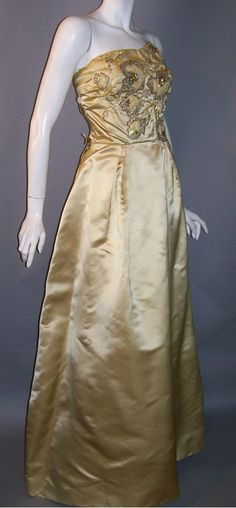 Philip Hulitar evening gown, 1950s, Dorothea's Closet Vintage archives #vintage #fashion
