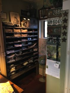 Mail room built in for home office