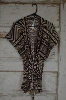 Black & Tan Kimono - Cajun Bling