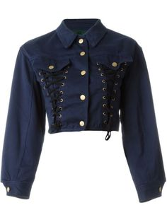 Jean Paul Gaultier Vintage Junior Gaultier corset denim jacket - All About Stage Outfits, Mode Outfits, Casual Outfits, Kpop Fashion, Korean Fashion, Fashion Outfits, Steampunk Fashion, Gothic Fashion, Fashion Online
