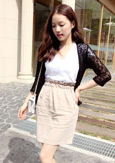 【Bagazimuri】しっかりフィットするゴムウエストスカートをご紹介します!!今シーズン流行のハイウエストスタイル♪短すぎない丈感が大人の女性らしさをアップ↑