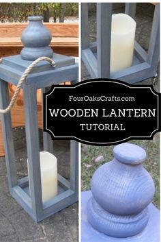 Fun and easy tutorial on how to make a wooden lantern. Great home decor or for your backyard.