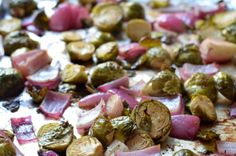 Sherry-Dijon Roasted Brussels Sprouts and Onions