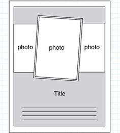 8-1/2 x 11 scrapbook layouts - Bing Images
