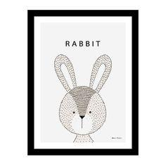 O design bonito do coelho tirado mão