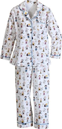 Charlie Brown and the Peanuts gang women's cotton flannel pajamas at vermontcountrystore.com