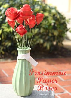 Persimmon Paper Roses by Simply Kelly Designs
