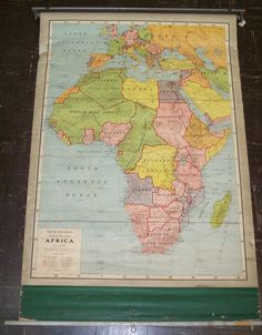 Image result for george f cram ideal schoolroom  map africa 1937