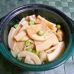 簡単♪筍とあげとえんどう豆の炊いたん