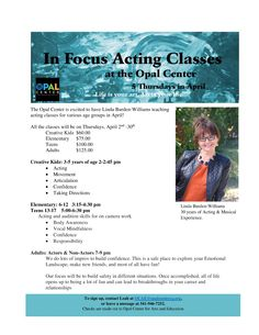 Acting classes for all ages!