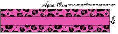 Oncinha Rosa - Kit Completo com molduras para convites, rótulos para guloseimas, lembrancinhas e imagens! - Fazendo a Minha Festa