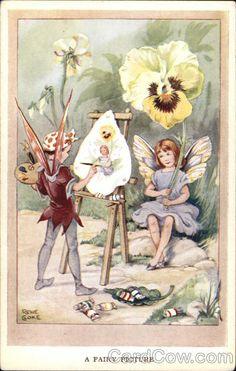 Rene Cloke Postcard Ebay Fairy Art Beautiful Fairies