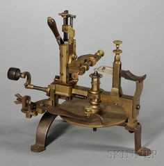 Brass and Steel Wheel Cutting Engine | Sale Number 2502, Lot Number 96 | Skinner Auctioneers
