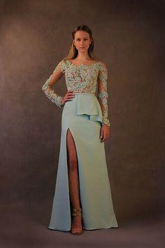 Vestido festa, madrinha de casamento, azul água, tiffany, longo, manga comprida