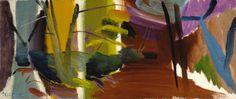 Oak Tree in Purple Woods Ivon Hitchens Abstract Landscape Painting, Landscape Paintings, Abstract Art, Abstract Trees, Small Paintings, Abstract Paintings, Landscaping Supplies, Garden Landscaping, Evergreen Bush