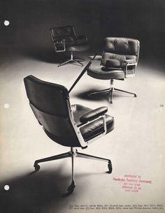 original leaflet time life chair eames