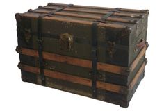 Antique Packing Trunk,  C. 1890