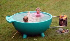 DutchTub, bañera de agua caliente en exterior Foto