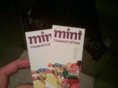 A tiny MINT Museum of Toys that has a rooftop cafe!