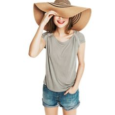 I need this hat! honestly, it's not just style, my face needs to have at least one summer where it doesn't get burned off :)