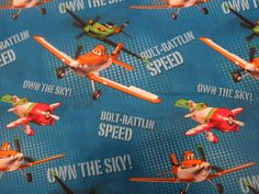 Disney Planes Fabric for a scrub top